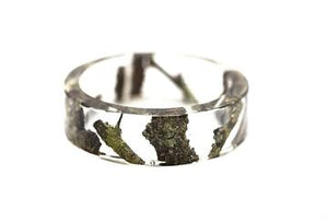 Resin and tree bits bangle