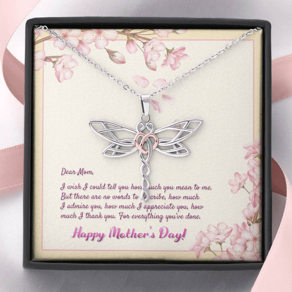 Dragonfly Necklace Gift for Mom from Son/Daugther