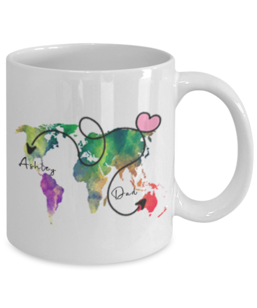 Fathers Day Gift From Daughter - The Love Between A Father And Daughter Knows No Distance Mug - Long Distance Father Daughter