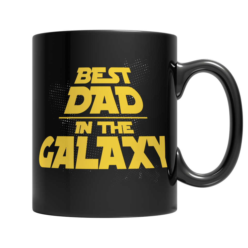 Best Dad in The Galaxy - Mug Black