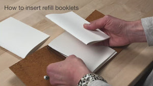 How to insert journal refills