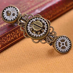 New Style Exaggerated Jewelry Steampunk Gear Alloy Spring Clip Hairpin