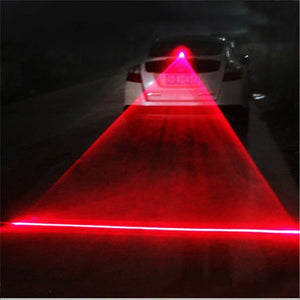Car Red Laser Fog Rear Anti-Collision Safety Taillight