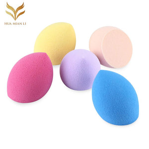 Huamianli 5pcs Foundation Smooth Blender Mixing Sponge Makeup Cosmetics Puff