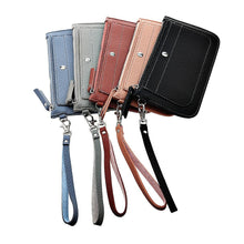 Load image into Gallery viewer, Women Old Litchi Stria Long Wallet