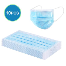 Load image into Gallery viewer, 10PCS Disposable Face Masks Dust-proof Anti-bacteria