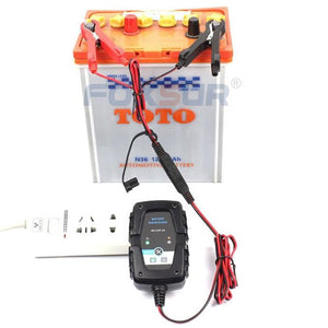 6V 12V 1A Smart Car Motorcycle Battery Charger Lead-acid