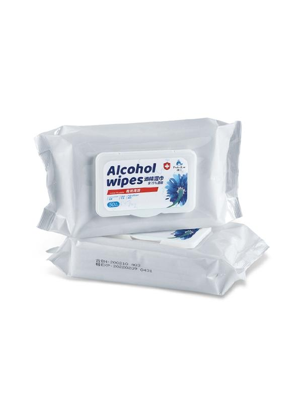 Disposable 75% Alcohol Wet Wipes 1Box
