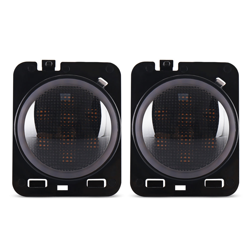 One Pair of Headlights Car Front LED Turn Signal Blinker