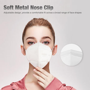 1PC KN95 Face Mask with Elastic Earloop 4-Ply Dustproof