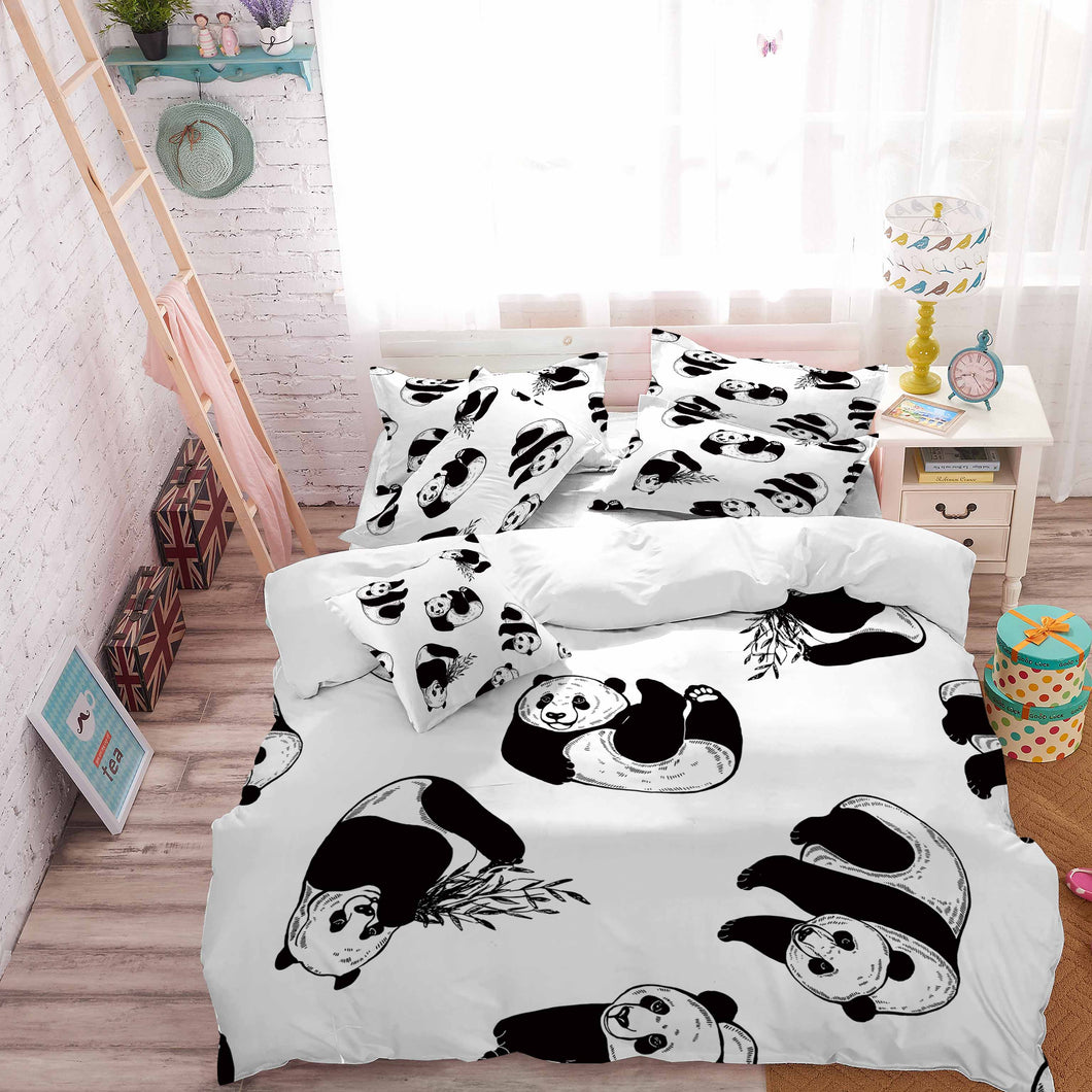 Panda Theme Comforter Set Bedding Sets for Child Bedroom