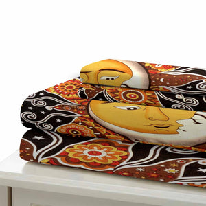 Sun and Moon Comforter Sets Bedding Sets for Boys&girls Bedroom