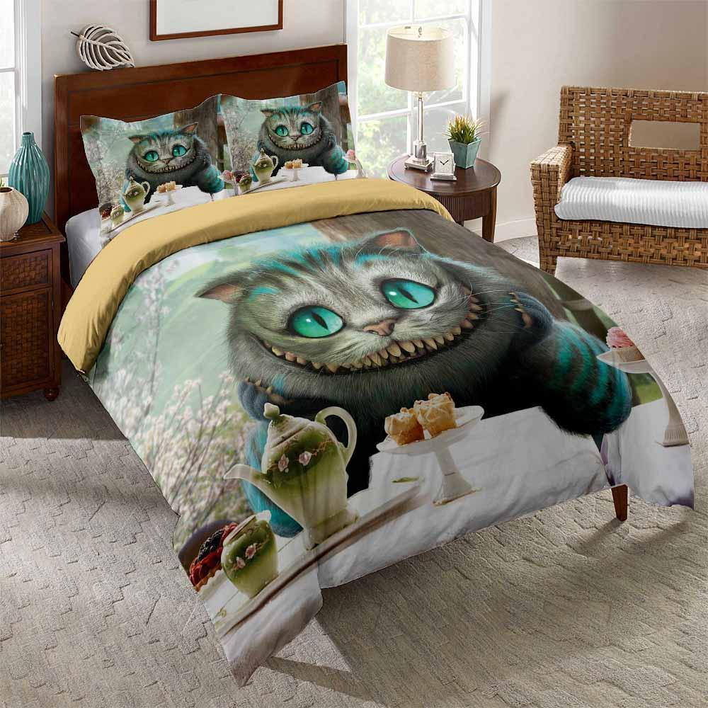 Smiley Cat Printed Bedding Sets Duvet Cover Set