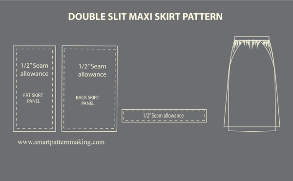 How to: Make a Double Slit Maxi Skirt Pattern Tutorial.