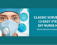 Classic Scrub Cab: 13 Easy Steps DIY Nurse Hat