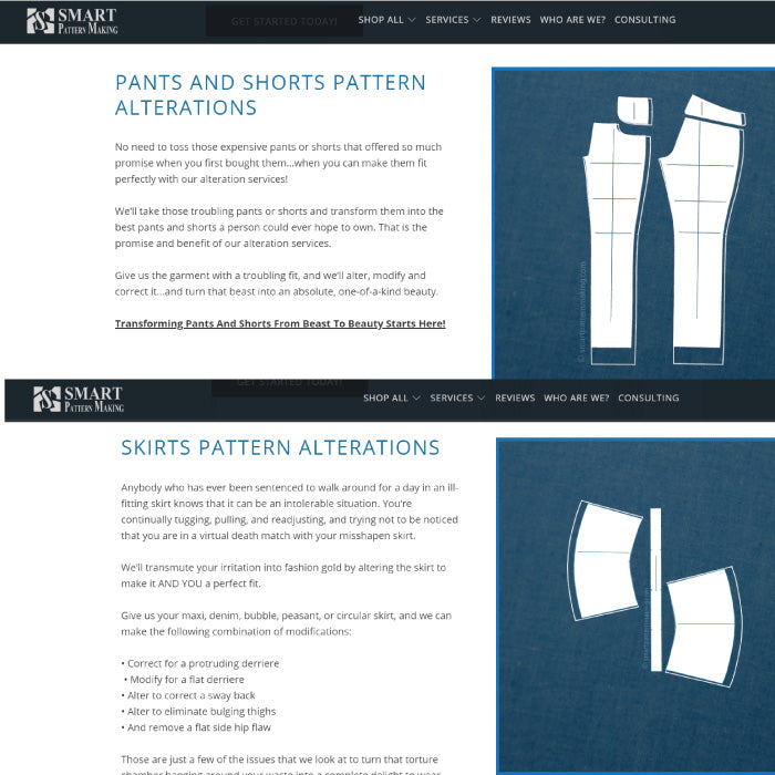 Pattern Alterations And Adjustment Services