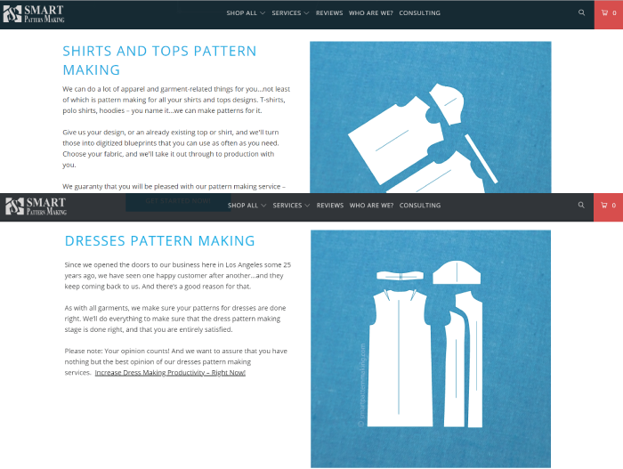 Pattern Making Services For Apparel Industry