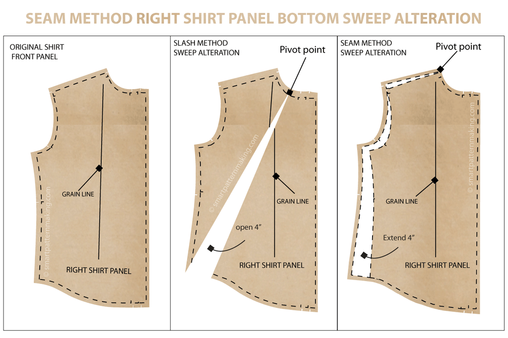 Seam Method Shirts And Tops Pattern Alterations