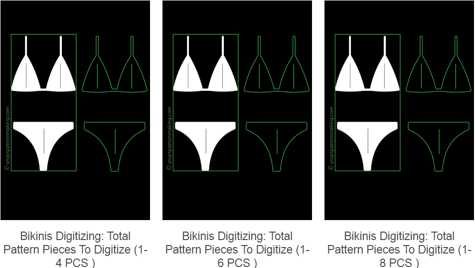 Digitizing Bikinis Patterns