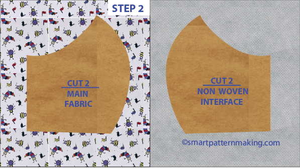 Step 2. Cutting Your Mask. Step 1. Drafting Mask On Paper. Free PDF Mask pattern.