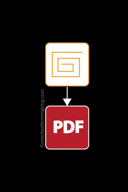 Convert Gerber File To PDF (1-24 Pieces) - smart pattern making