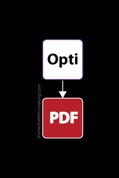 Convert Optitex DXF File To PDF [1-12 Pieces] - smart pattern making