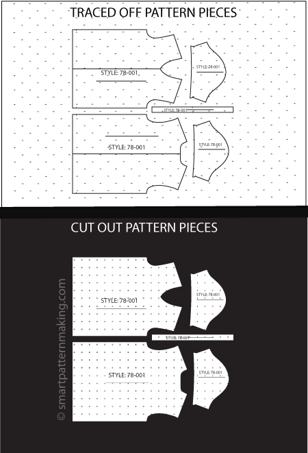 Paper Pattern Cutting: Total Pieces [1-12] - smart pattern making