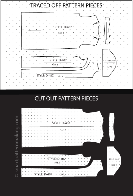 Dresses Paper Pattern Cutting - smart pattern making