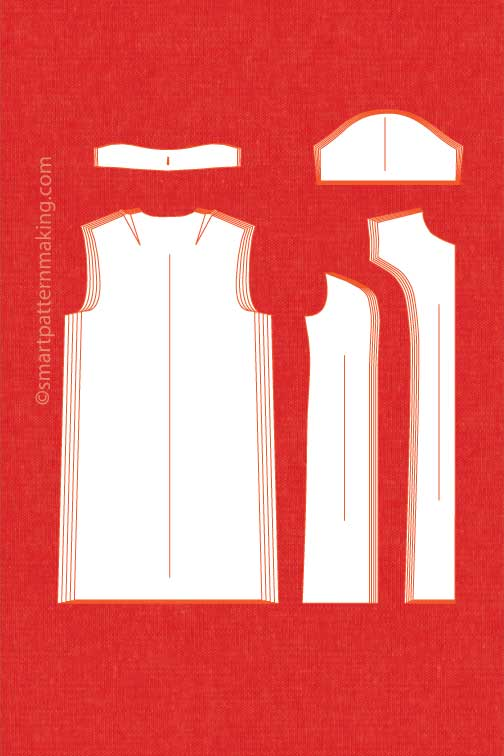 Dresses Pattern Grading (1-48 PCS.) - smart pattern making