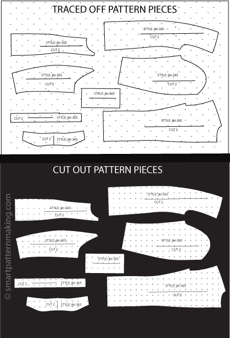 Jacket Paper Pattern Cutting - smart pattern making