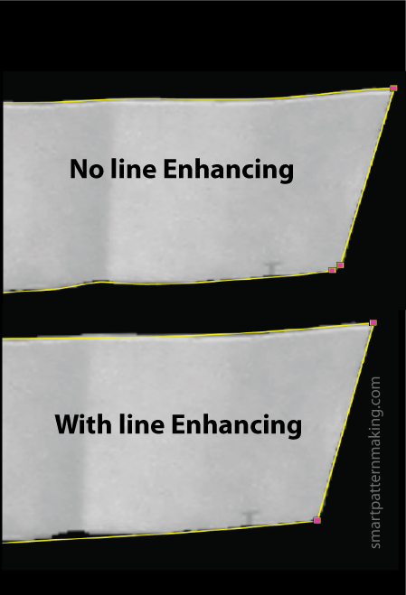 Digitizing Line Enhancing - smart pattern making