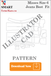 illustrator Misses Jeans Boot Fit Sewing Pattern Download - smart pattern making