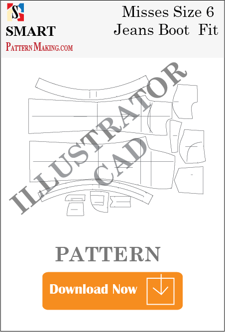 illustrator Misses Jeans Boot Fit Sewing Pattern Download