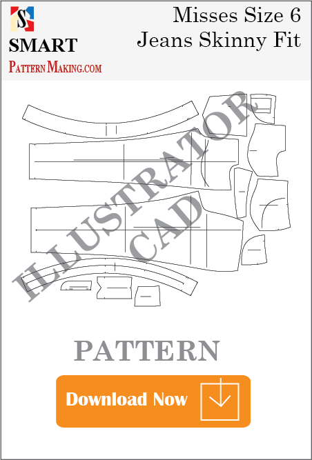 illustrator Misses Jeans Skinny Fit Sewing Pattern Download
