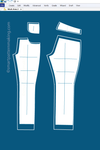 Pants And Shorts Alterations: Pattern Pieces Included (1-48 ) - smart pattern making
