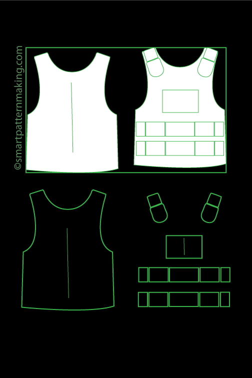 Safety Vest Pattern Digitizing - smart pattern making