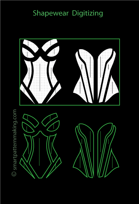Bikinis Digitizing (Order Now) - smart pattern making