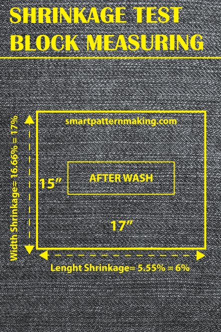 Fabric Shrinkage Test Block Measuring - smart pattern making