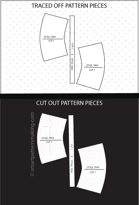 Skirts Paper Pattern Cutting: [1-6 PCS ] - smart pattern making