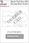 Big and Tall Racing Shirt Jacket Downloadable Gerber/CAD Pattern - smart pattern making