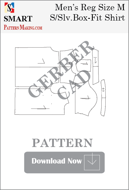 Men's Short Sleeve Box Shirt Downloadable Gerber/CAD Pattern