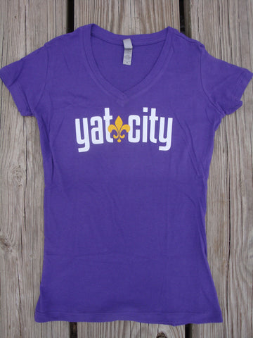 Yat City logo tee - fitted v-neck