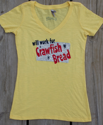 Crawfish Bread - fitted v-neck