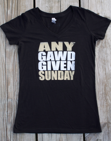Any Gawd Given Sunday - fitted v-neck