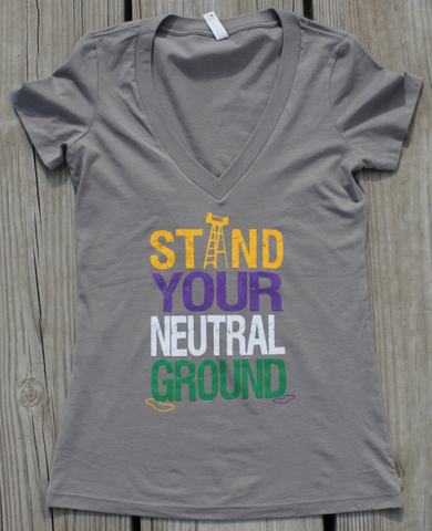 Stand Your Neutral Ground - fitted v-neck