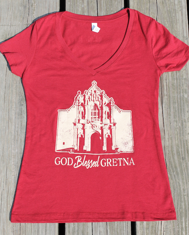 God Blessed Gretna - v-neck