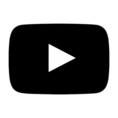 Black Youtube Logo; Click here to visit our youtube channel with some of our latest workouts.