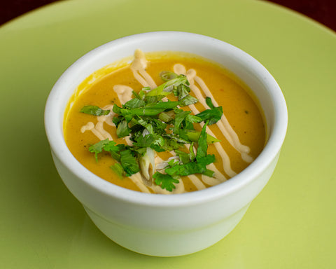 Creamy Sweet Potato and Calabaza Soup