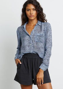 Josephine Button Down - Blue Lynx