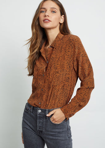 Kate - Speckled Silk Blouse
